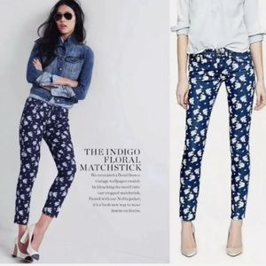J. Crew Matchstick Floral Printed Jeans Size 31
